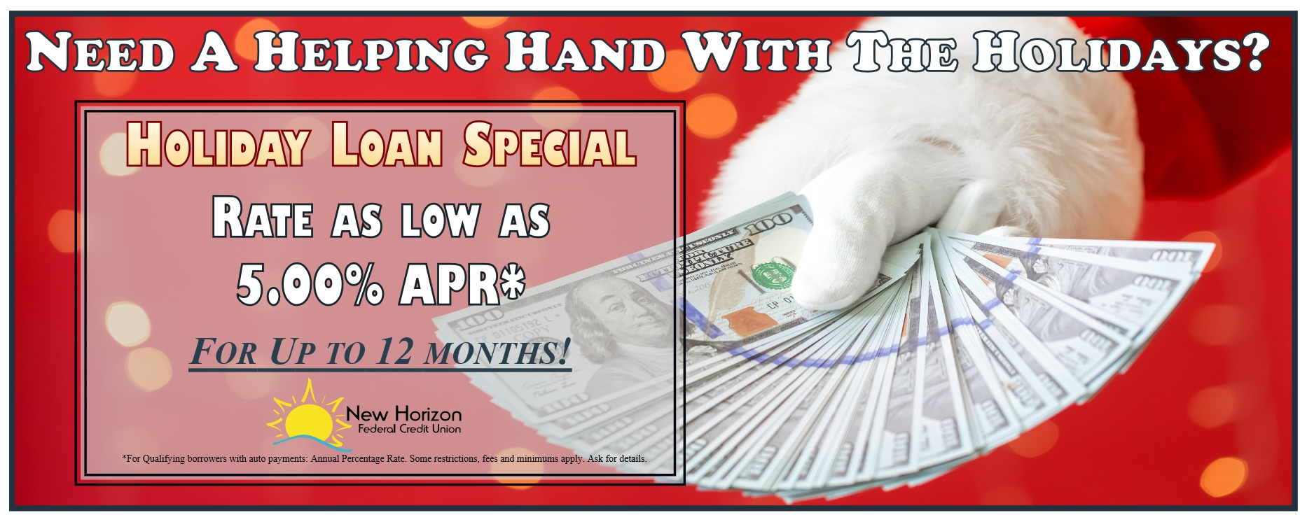 holiday loan spacial, 5% apr