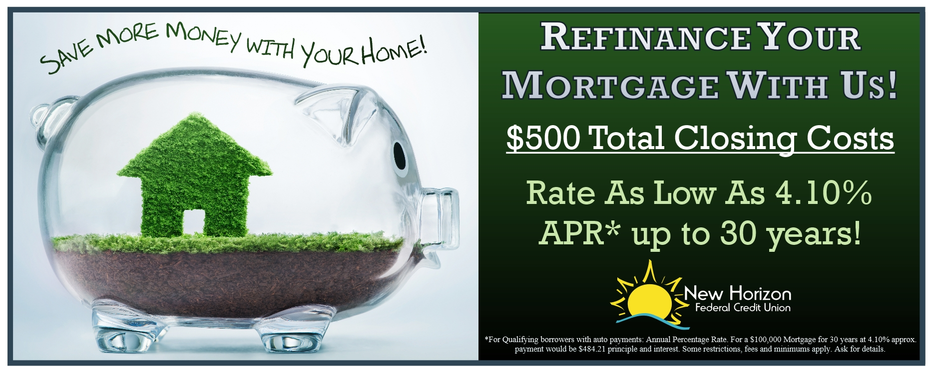 Refinance Your Mortgage With Us!